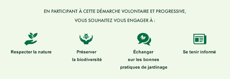 S'engager à respecter la nature, préserver la biodiversité, échanger sur les bonnes pratiques de jardinage, se tenir informé