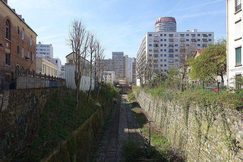 La Petite Ceinture, voie férrée désaffectée et laissée en friche autour de Paris (crédit photo CC: Guilhem Vellut)